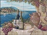 Ceramic Tile Mural - Bella Vista - by Rita Broughton - Kitchen backsplash / Bathroom shower