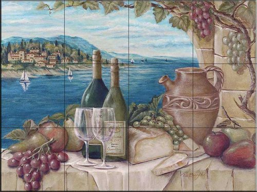 Bella Vista by Rita Broughton - Kitchen Backsplash / Bathroom wall Tile Mural