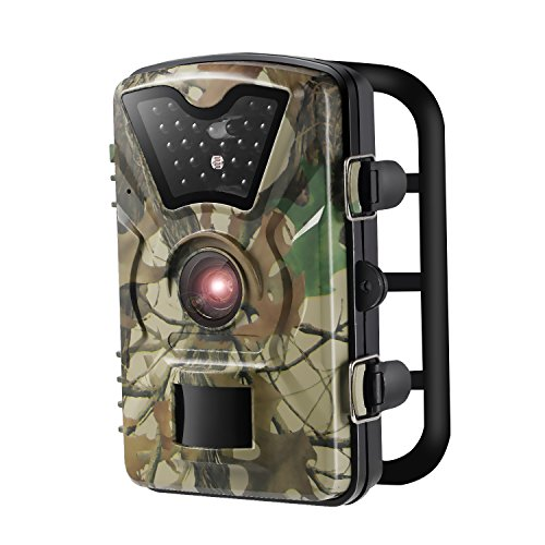 """YKS Low Glow Infrared Trail&Game Scouting Camera with 12MP HD1080P Waterproof Motion Activated 2.4"""" LCD Screen & 24pcs IR LEDs,Outdoor Wildlife Cameras(Camouflage Color)"""