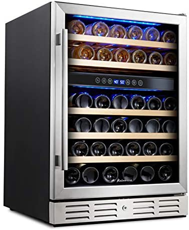 Kalamera-24''-Wine-refrigerator-46-Bottle-Dual-Zone-Built-in-or-Freestanding