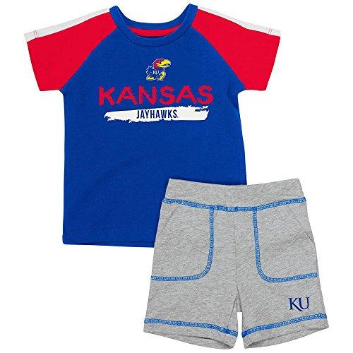 Infant Kansas Jayhawks Tee Shirt and Shorts Set - 12 to 18 Months
