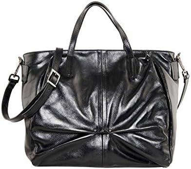Caterina Lucchi N0135 Sac à main Shopping moyen calf avec bandoulière amovible, couleur noire, cuir véritable