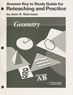 Amazon geometry 9780395977279 ray c jurgensen richard g geometry answer key to study guide for reteaching and practice fandeluxe Choice Image