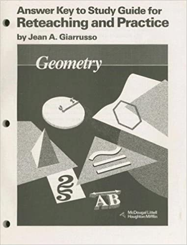Geometry Answer Key To Study Guide For Reteaching And