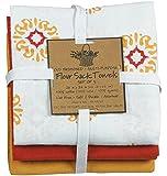 Kay Dee Designs Cafe Express Medallion Flour Sack Towels, Set of 3 (Assort Color)
