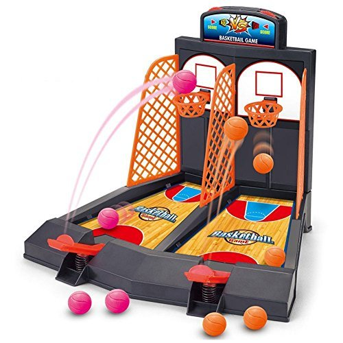 HOBULL Basketball Game Toy 2-Player Table Top Basketball Shooting Games Arcade Games for Kids Family -