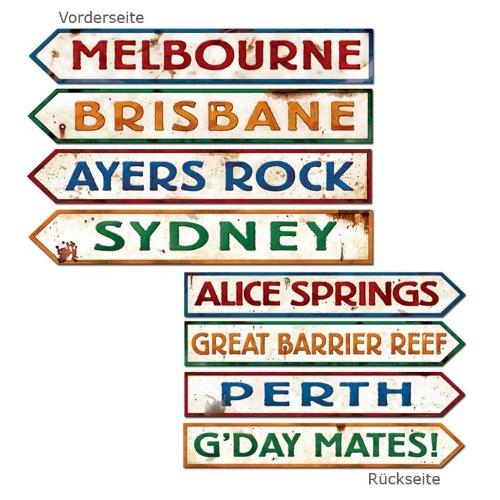 Outback Rock Weekend Australia Directional Sign Cutouts 4pk