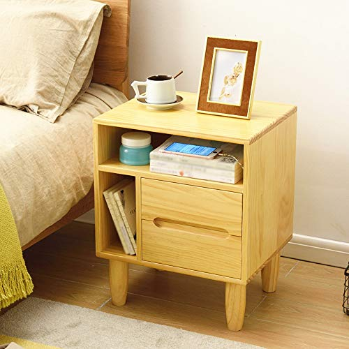 Optional Sideboard - Ping Bu Qing Yun Bedside Table, L Type Vertical and Horizontal Drawer Racks Wooden Simple Bedroom Bed Storage Storage Cabinet, Suitable for: Living Room/Bedroom/Study, 2 Colors Optional Bedside