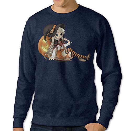 Missone Anime Girl Halloween Mens Pullover Sweatshirt XXX-Large (Halloween Movies Imdb)