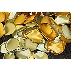 Olive Rose Petals, Set of 100, Autumn Wedding, Gold Rose Petals, Flower Girl Petals, Gold Bridal Shower, Aisle Runners Decor, Blush Rose Petals, Birthday Party