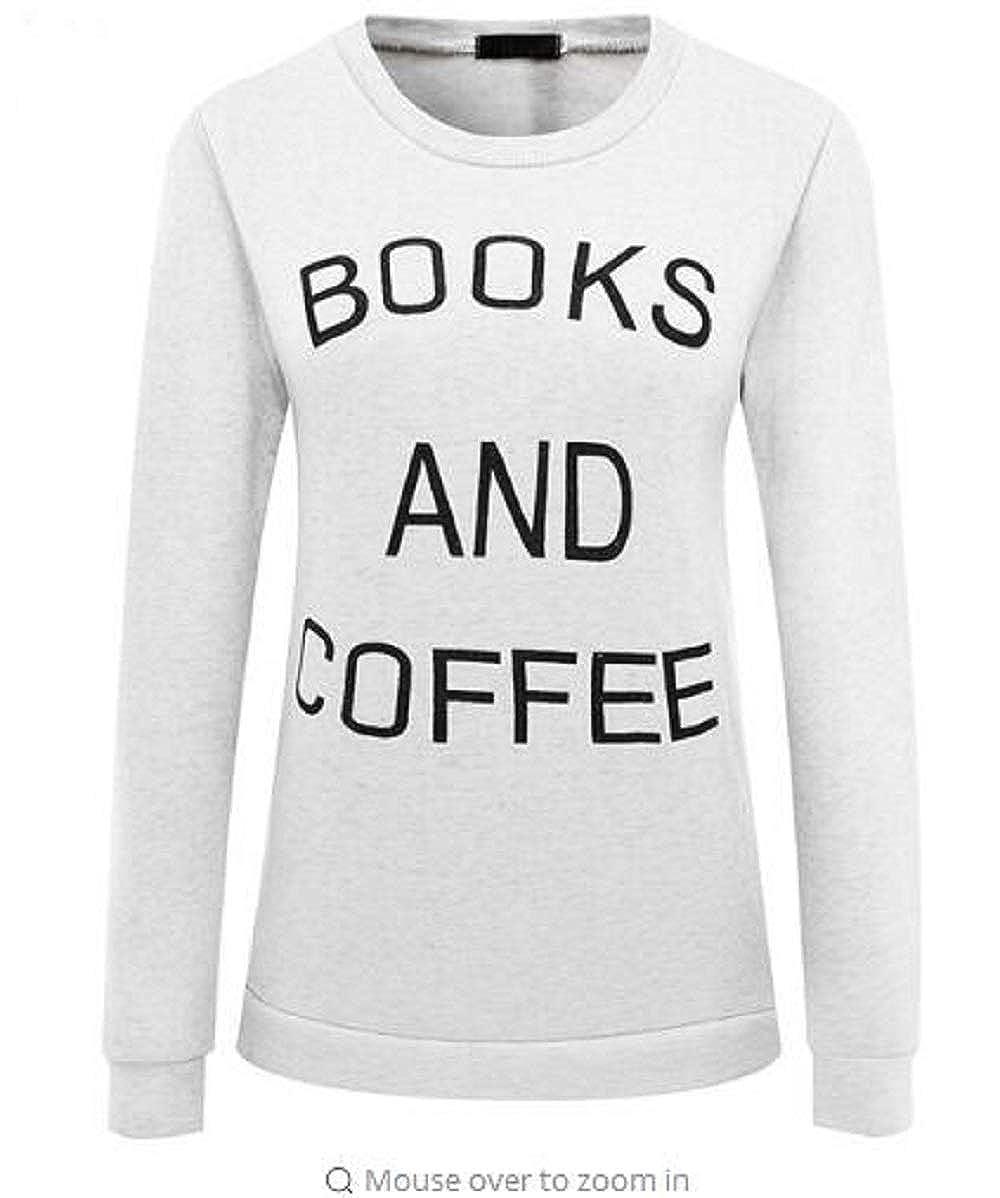 ADLISA Womens Casual Long Sleeve Crew Neck Letter Printed Loose Pullover Sweatshirt Sweater