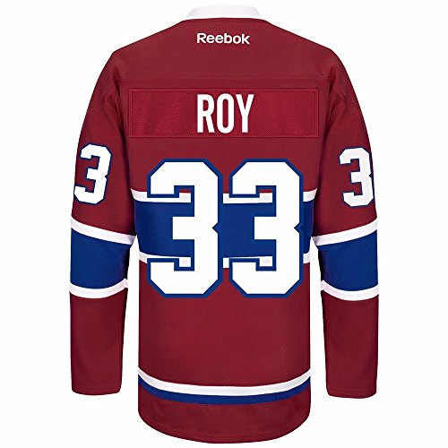 Roy Jersey (PATRICK ROY 2016-17 Montreal Canadiens Red Reebok Team Player PREMIER Jersey - Men's)