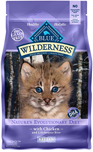 BLUE Wilderness Kitten Grain Free Chicken Dry Cat Food 5-lb