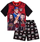 Boys WWE World Wrestling Short Pajama 6 7 8 9 10 11 12 Years Pj Pajamas (6X-7)