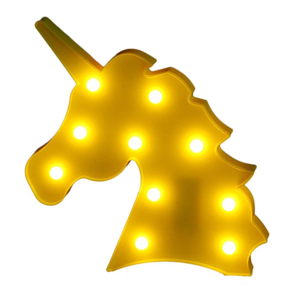 Amazon.com: Unicorn Night Light, Battery Operated LED Table Lamp ...