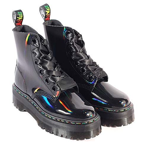 2cca60f6786541 Dr. Martens Women s Quad Retro Molly Platform Lace Up Boot Black Rainbow- Black-4 Size 4  Amazon.it  Scarpe e borse