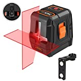 Laser Level Self-leveling Horizontal/Vertical Line and Cross-Line, 98Ft with Tacklife Double Laser Sources, Pulse Mode, Magnetic Pivoting Base, Carrying Pouch, Battery Included – SC-07