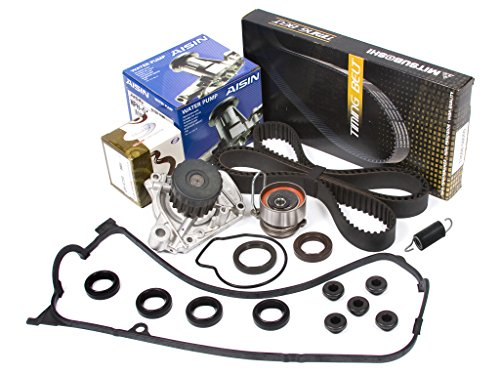 Evergreen TBK312MVCA Fits 01-05 1.7L Honda Civic D17A Timing Belt Kit Valve Cover Gasket AISIN Water Pump