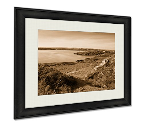 Ashley Framed Prints Baltimore Ireland Coast Line Of Baltimore The Main Village In The Parish Of, Wall Art Home Decoration, Sepia, 34x40 (frame size), AG6326491 by Ashley Framed Prints