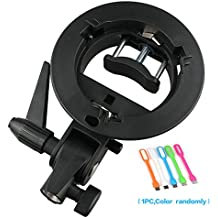 Godox S-type Bracket Bowens S Mount Holder for Speedlite Flash Snoot Softbox Honeycomb + SUPON USB LED