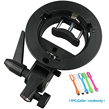 Godox S-type Bracket Bowens S Mount Holder for Speedlite Flash Snoot Softbox Honeycomb + HuiHuang USB LED free gift
