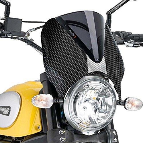 Puig Fly screen Windscreen Windshield Ducati Scrambler Full Throttle 15-18 carbon look-dark smoke