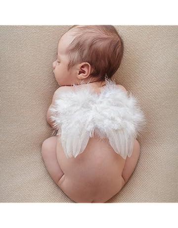 Bebé lindo ángel de plumas alas fotografía traje prop foto prop con elástico pétalas de diamantes