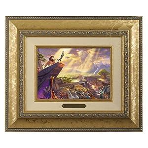 Thomas Kinkade Disney Lion King Brushwork (Gold)