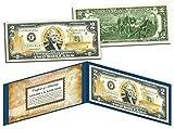 United States NAVY $2 Bill US Genuine Legal Tender GOLD LEAF Laser Line MILITARY