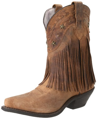 Dingo Western Boots Womens Hang Low Fringe Stars Brown DI744