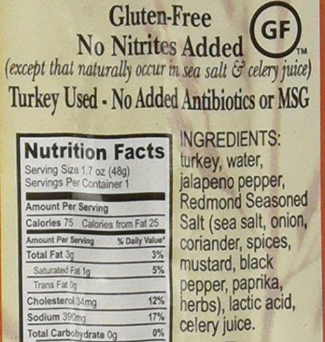Nick's Sticks Spicy Free Range Turkey Snack Sticks - Gluten Free - No Antibiotics or Hormones (6 Packages of 2 Sticks)