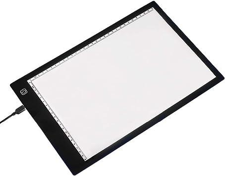 Tablero de Dibujo Caja De Luz A4 Tablero De Copia LED Tabla De Dibujo Tabla De Trazado Tabla De Trazador Caja para Artistas Bocetos Diseño sobre el Tablero de Dibujo: Amazon.es: Electrónica