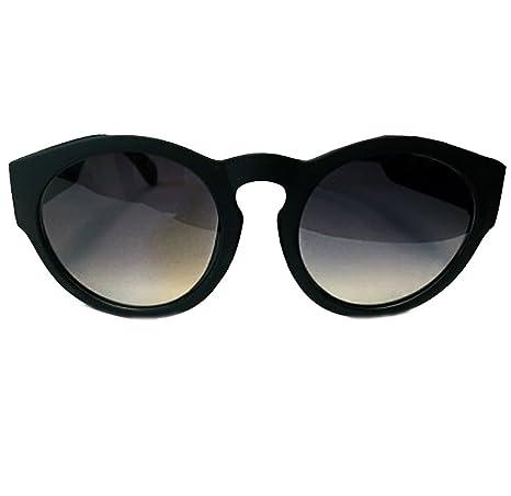 Accessoryo - Junge und Mädchen schwarz matt retro runde Sonnenbrille JYJnZvh1KC