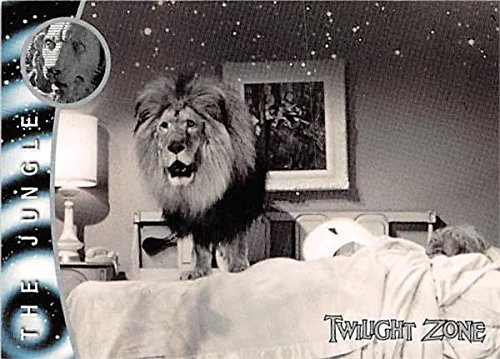 (A Lion in Bed trading card Twilight Zone 2000 Rittenhouse #132 The Jungle)