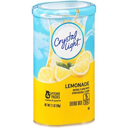 - Crystal Light Crystal Light Natural Lemonade Drink Mix, Pitcher Packs, 2.10 oz