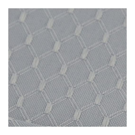 VEEYOO Set of 6 Placemats for Kitchen Dining Table, Non-Slip Waterproof Polyester Kitchen Placemats Washable Table Mats,13x19 Silver - ✔【Material】: 100% polyester yarn, high-quality double-layer fabric for table mats (environmentally friendly, safe to use) ✔ 【Size and beautiful color】: 13 x 19 inches, a set of 6 sets, the simple and exquisite design of the place mat, elegant waffle jacquard style, perfectly matched on the table. ✔【Waterproof and heat resistant】: polyester yarn, high-quality double-layer fabric (environmental protection, safe to use), the place mat waterproof, non-slip, oil-proof, UV-resistant, wear-resistant. The place mats are made of heat resistant materials to protect your table. - placemats, kitchen-dining-room-table-linens, kitchen-dining-room - 51tUq8dzNLL. SS570  -
