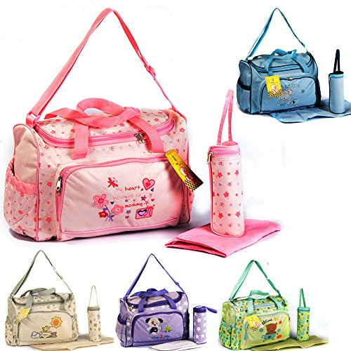 GMMH XXL 3 tlg Baby Farbe grün Wickeltasche Pflegetasche Windeltasche Babytasche Reise Farbauswahl