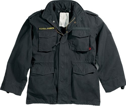 Rothco Black Military Vintage M-65 Field Jacket 8608 Size...