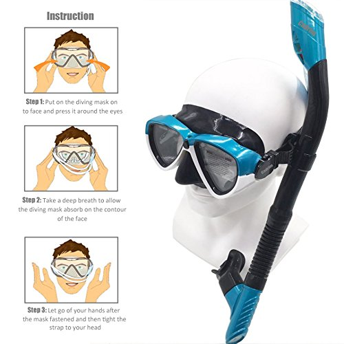 f6d5d9a7a4e Cadrim Snorkel Set with Tempered Glass   Full-dry Top Snorkel