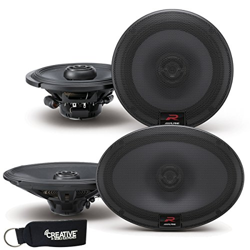Alpine R-Series Bundle - A pair of Alpine R-S65 6.5 Inch Coaxial 2-Way Speakers & a pair of R-S69 6x9