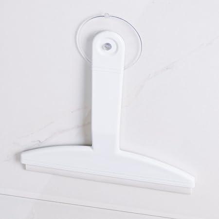 mDesign Rasqueta limpiacristales para mamparas de ducha – Limpiacristales con ventosa para colgar – Limpiador de cristales para baño, cabinas de ducha y azulejos – Plástico color blanco: Amazon.es: Hogar