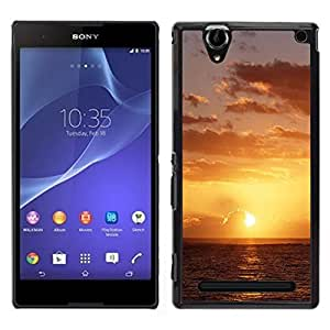 "For Sony Xperia T2 Ultra , S-type Sunset Beautiful Nature 49"" - Arte & diseño plástico duro Fundas Cover Cubre Hard Case Cover"