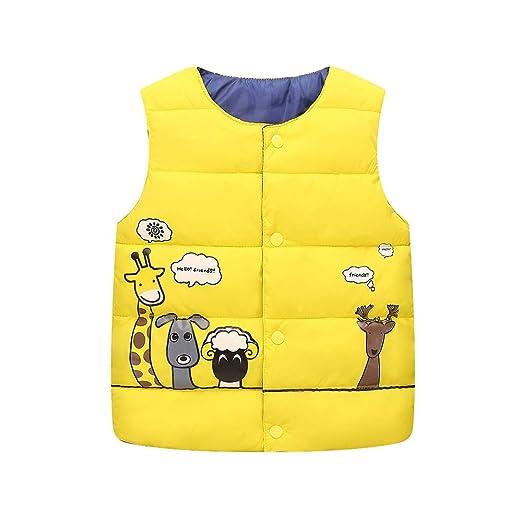 SMALLE ◕‿◕ Clearance,Childrens Kids Baby Girls Boy Sleeveless Animal Print Warm Jacket
