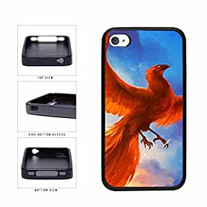 Bright Red Fire Bird TPU RUBBER Phone Case Back Cover Apple iPhone 6 4.7 includes diy case Cloth and Warranty Label