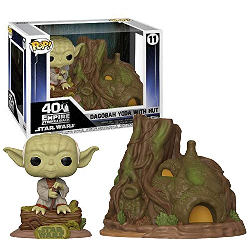 Funko Pop! Town: Star Wars - Yoda's Hut, Multicolor