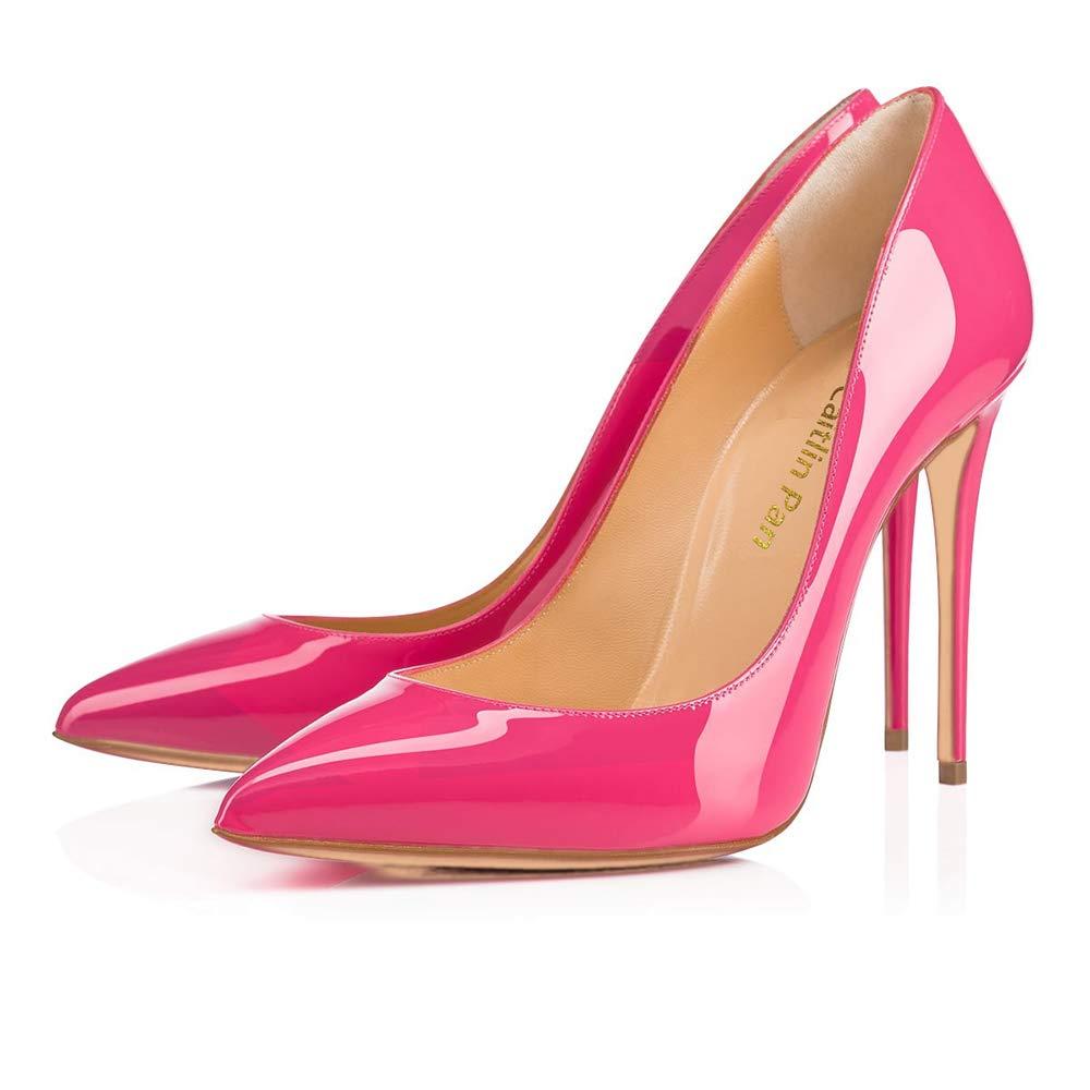 Caitlin Pan Femmes Caitlin EscarpinsTalons Hauts Slip B0779WFS9X on Bout Rouge Pointu/Bout Ouvert Semelle Rouge 6,5CM/10 CM/12 CM Pompes Talon Aiguille Chaussures de Bal Pink Patent-10cm/Semelle Rouge a62359d - jessicalock.space
