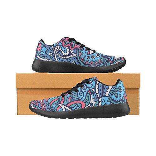 Scarpe Da Corsa Da Donna Running Running Da Jogging Leggero Sportivo Da Passeggio Con Scarpe Da Ginnastica Rosse Paisley Blu