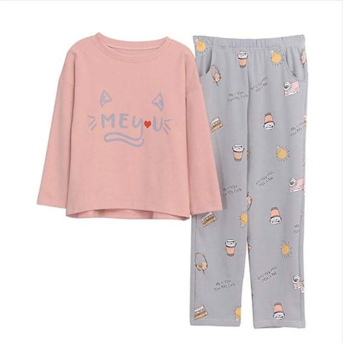 Mmllse Dama Pijama Establece Pijamas De Dibujos Animados Vestirse Sueño Gato Oreja Impresión Ropa De Noche Ocio Camisón Vestido Homewear: Amazon.es: Ropa y ...