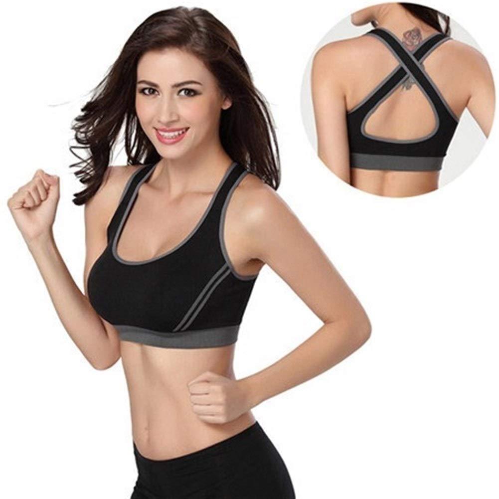 LABAICAI Sexy Frau sportbekleidung Fitness laufbekleidung Jogging Yoga Sport BH gepolsterte unterwäsche Tennis Weste Crop top BHS