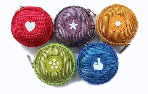 5 Mini-Taschen für kleine Gegenstände, z.B. Hülle für iPod Shuffle oder Etui für Ohrhörer, bzw. Kopfhörer (iPhone, iPod, iPad, S3 etc.) oder für SD-Karte etc.